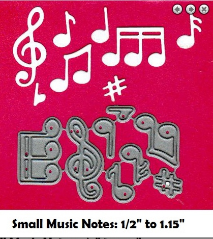 Fra Die 09044 Small Music Notes From Frantic Stamper Dies